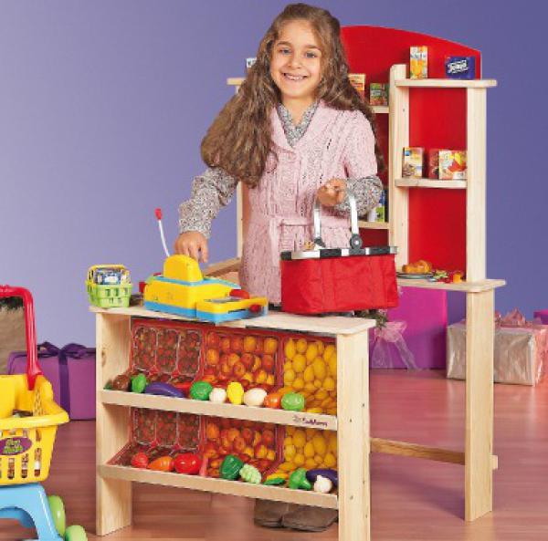eichhorn kinder kaufladen kaufmannsladen natur holz top weinachtsgeschenk ebay. Black Bedroom Furniture Sets. Home Design Ideas