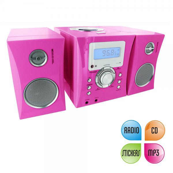 bigben kinder stereo musikanlage in pink von rossmann