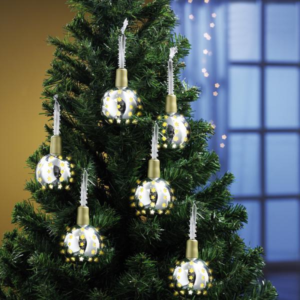 tv artikel 6er set kerzenzauber weihnachtskugeln in silber von rossmann ansehen. Black Bedroom Furniture Sets. Home Design Ideas
