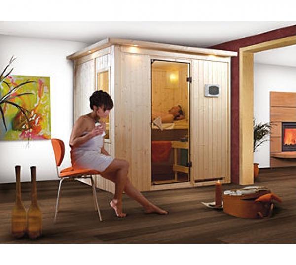 karibu 68mm sauna bodin aktionsset fronteinstieg mit ofen. Black Bedroom Furniture Sets. Home Design Ideas