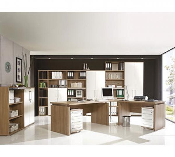 Germania Büro-Set Vision 1, Nussbaum-Royal von plus.de ansehen ...