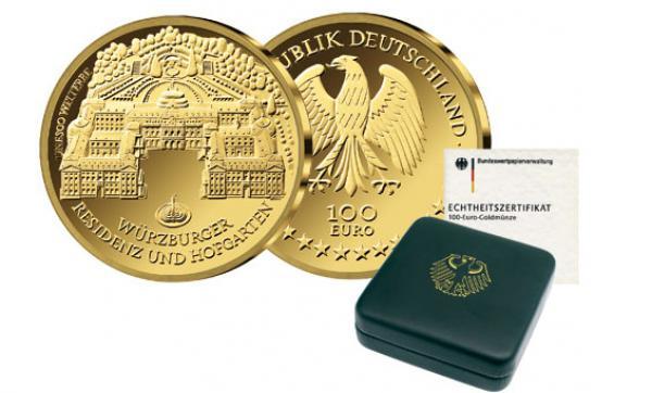 brd 2010 100 euro gold w rzburg von lidl ansehen. Black Bedroom Furniture Sets. Home Design Ideas