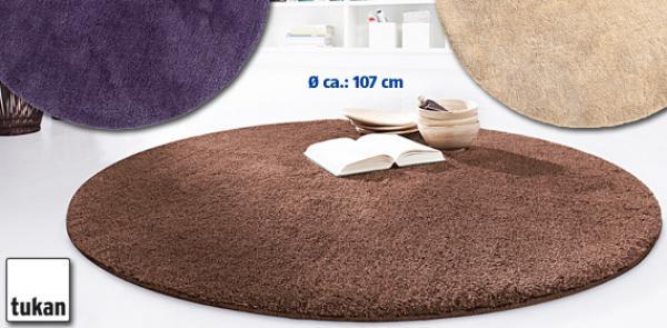 tukan hochwertiger hochflor teppich rund von aldi s d ansehen. Black Bedroom Furniture Sets. Home Design Ideas