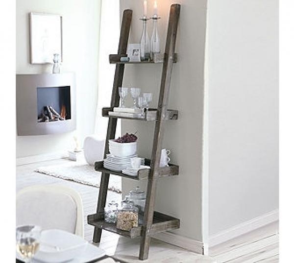 leiterregal antik braun von ansehen. Black Bedroom Furniture Sets. Home Design Ideas
