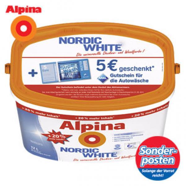 Alpina Nordic White Aral Gutschein Für Die Autowäsche Von - Alpina nordic