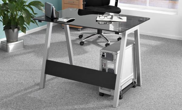United office glas schreibtisch von lidl ansehen for Schreibtisch lidl