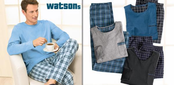 watsons herren flanell pyjama von aldi s d ansehen. Black Bedroom Furniture Sets. Home Design Ideas