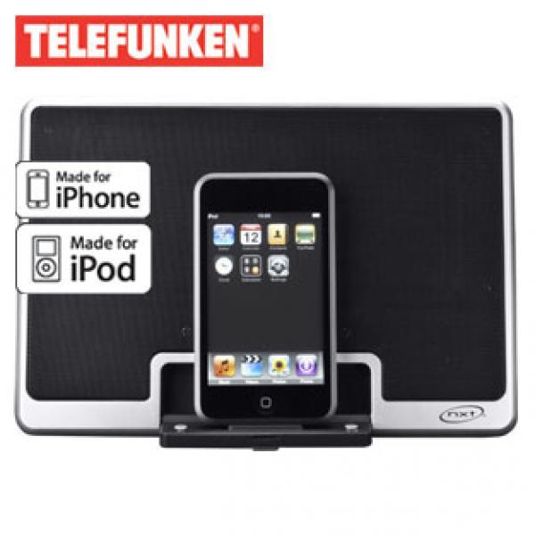 iphone ipod reise lautsprecher ip 50 mit docking station von real ansehen. Black Bedroom Furniture Sets. Home Design Ideas