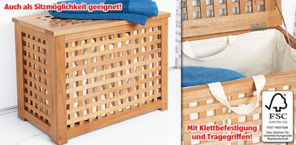 LIVING STYLE® Wäschebox aus Massivholz von Aldi Süd ansehen!