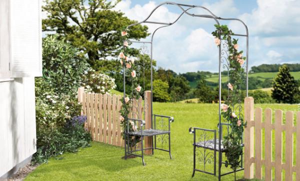 florabest rosenbogen mit 2 sitzgelegenheiten von lidl ansehen. Black Bedroom Furniture Sets. Home Design Ideas