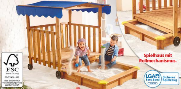 spielhaus mit sandkasten von aldi s d ansehen. Black Bedroom Furniture Sets. Home Design Ideas