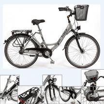 """CURTIS® Damen Alu-City-Fahrrad 28\"""" Silber/Weiß, hochwertige Ausstattung"""