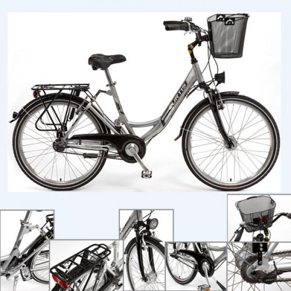 curtis damen alu city fahrrad 28 silber wei. Black Bedroom Furniture Sets. Home Design Ideas