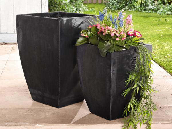 florabest 2 pflanzenk bel schwarz von lidl ansehen. Black Bedroom Furniture Sets. Home Design Ideas