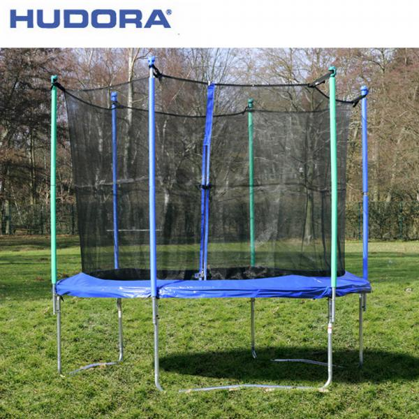 hudora trampolin 305 cm mit sicherheitsnetz von rossmann. Black Bedroom Furniture Sets. Home Design Ideas
