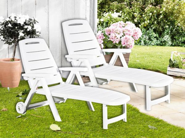 florabest 2er set sonnenliege wei von lidl ansehen. Black Bedroom Furniture Sets. Home Design Ideas