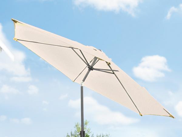 florabest sonnenschirm mit kurbel 3 m von lidl ansehen. Black Bedroom Furniture Sets. Home Design Ideas