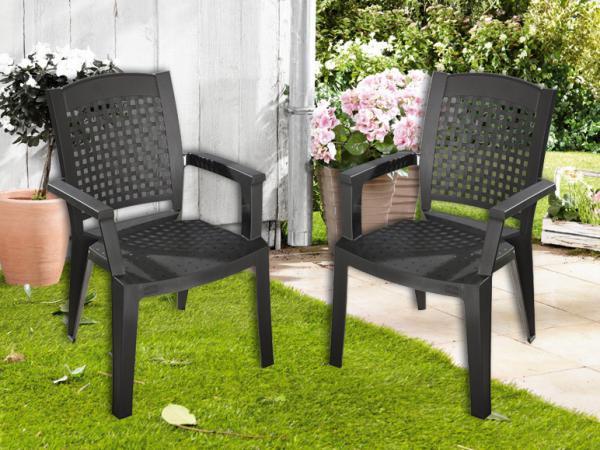 florabest 2er set stapelsessel anthrazit von lidl ansehen. Black Bedroom Furniture Sets. Home Design Ideas