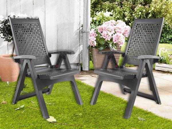 florabest 2er set klappsessel anthrazit von lidl ansehen. Black Bedroom Furniture Sets. Home Design Ideas