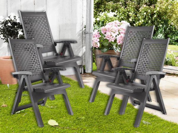 florabest 4er set klappsessel anthrazit von lidl ansehen. Black Bedroom Furniture Sets. Home Design Ideas