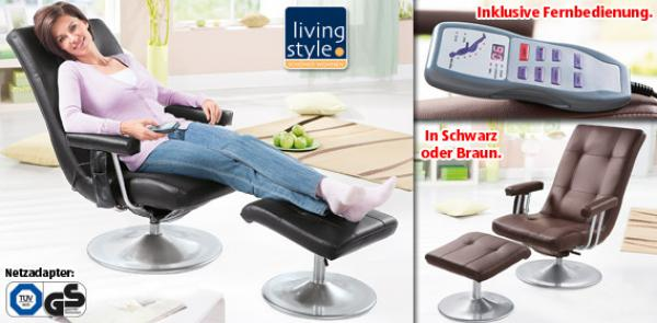 living style massagestuhl von aldi s d ansehen. Black Bedroom Furniture Sets. Home Design Ideas