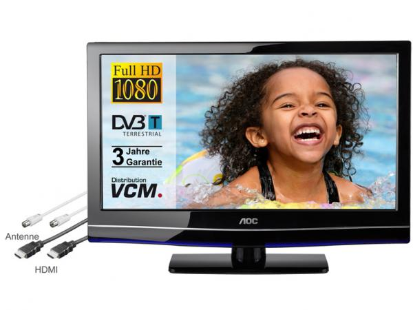 aoc tv bundle led tv 24 zoll hdmi kabel von lidl. Black Bedroom Furniture Sets. Home Design Ideas