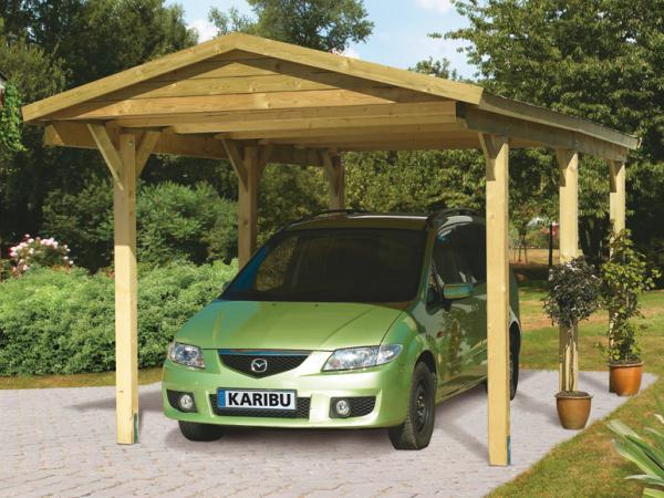 Karibu ecoflex carport satteldach einzel von lidl ansehen for Angebote carport
