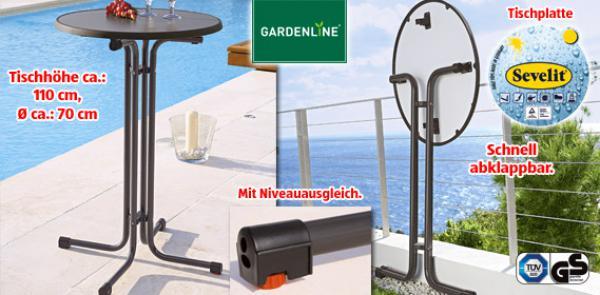 gardenline stehtisch von aldi s d ansehen. Black Bedroom Furniture Sets. Home Design Ideas