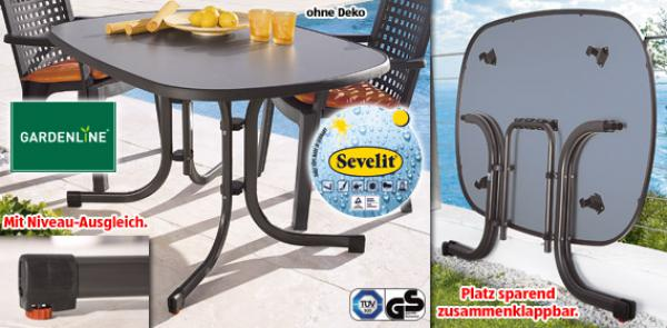 gardenline gartentisch von aldi s d ansehen. Black Bedroom Furniture Sets. Home Design Ideas