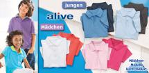ALIVE® Kinder-Basic- Polo-Shirt, 2 Stück