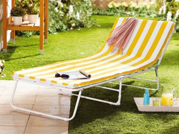florabest sonnenliege gelb gestreift von lidl ansehen. Black Bedroom Furniture Sets. Home Design Ideas