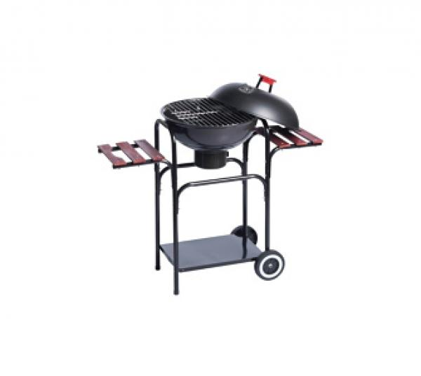 bbq steel kugelgrill deluxe mit rollen und 3. Black Bedroom Furniture Sets. Home Design Ideas