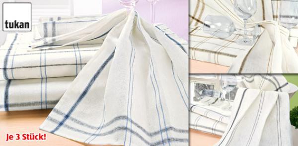 tukan 3 leinen geschirrt cher von aldi s d ansehen. Black Bedroom Furniture Sets. Home Design Ideas