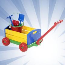 Handwagen mit Eimergarnitur