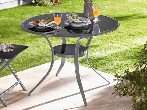 florabest aluminium gartentisch von lidl ansehen. Black Bedroom Furniture Sets. Home Design Ideas