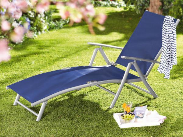 Florabest aluminium liegestuhl blau von lidl ansehen - Liegestuhl lidl ...
