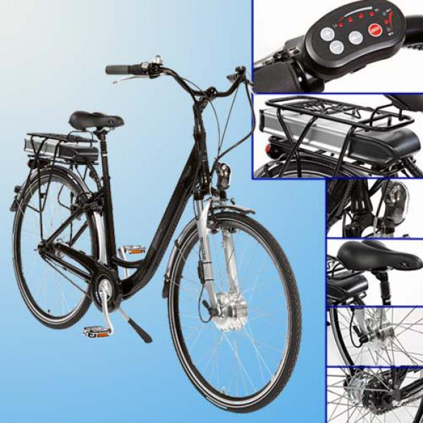 "CURTIS® Alu-City-Elektrofahrrad 28\"" (71 cm) bis 25 km/h Fahrunterstützung"