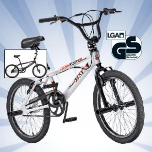 crosswind bmx rad 20er wei ebay. Black Bedroom Furniture Sets. Home Design Ideas