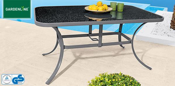 gardenline aluminium gartentisch von aldi s d ansehen. Black Bedroom Furniture Sets. Home Design Ideas