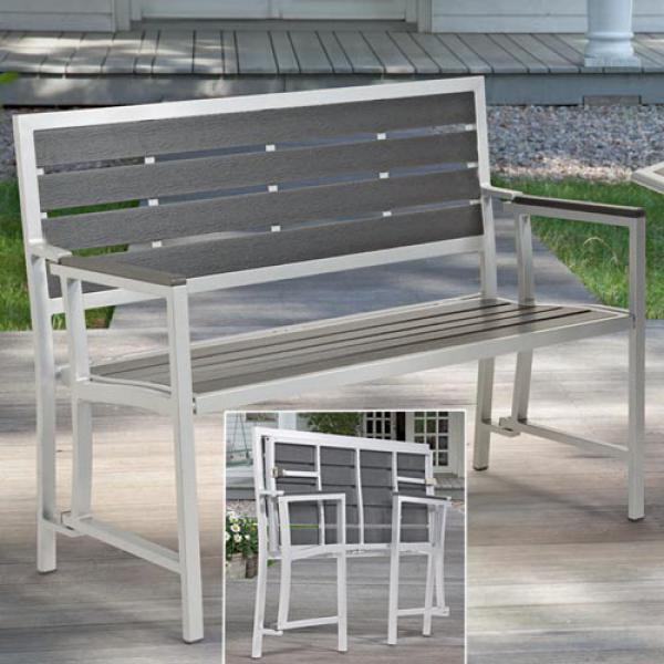 faltbare gartenbank von aldi nord ansehen. Black Bedroom Furniture Sets. Home Design Ideas