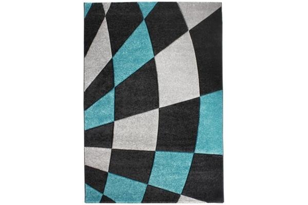 luxor living teppich karo schwarz blau 160 x 230 cm von globus baumarkt ansehen. Black Bedroom Furniture Sets. Home Design Ideas
