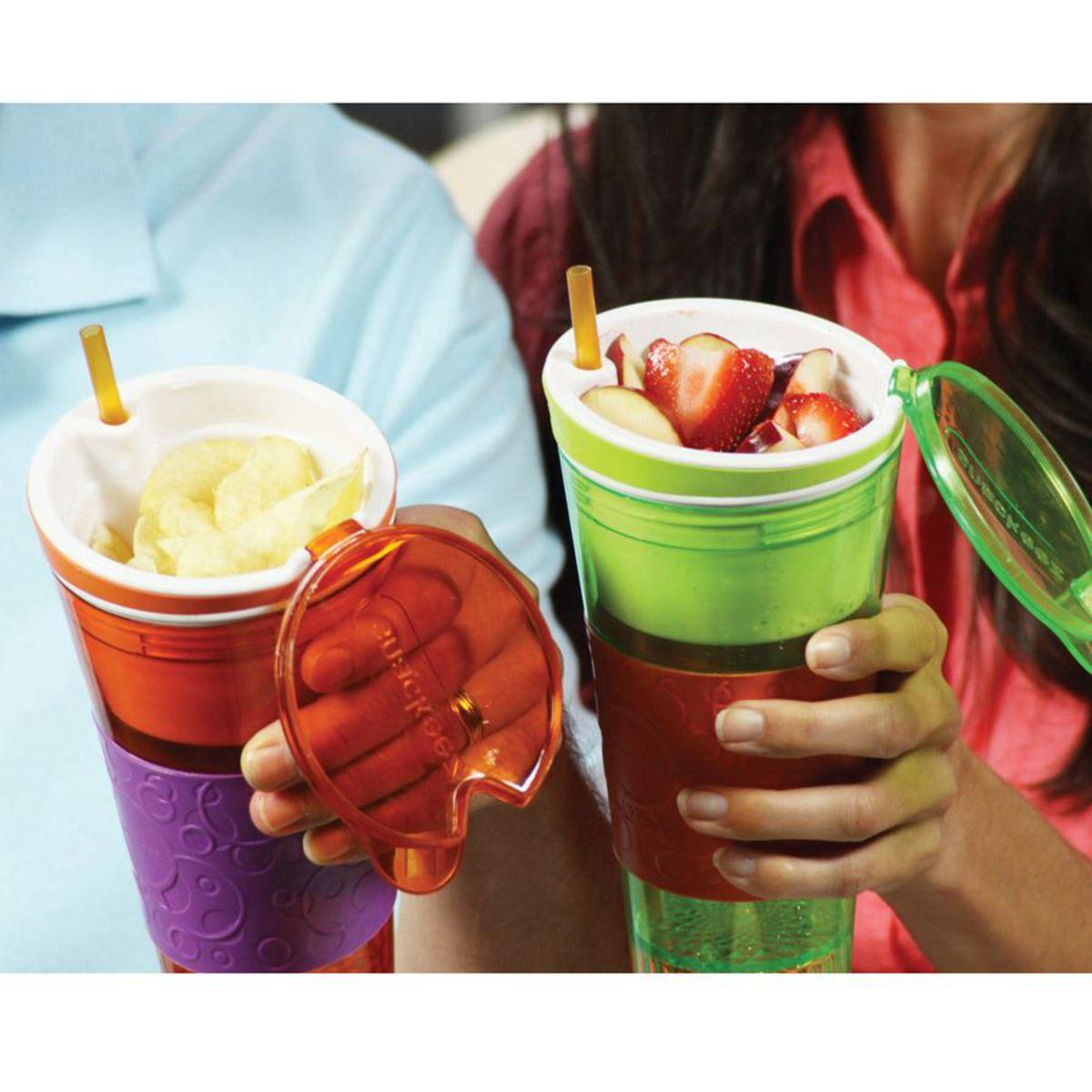 Bild 4 von Snackeez! 2in1 Snack- & Trinkbecher Blau/Grün