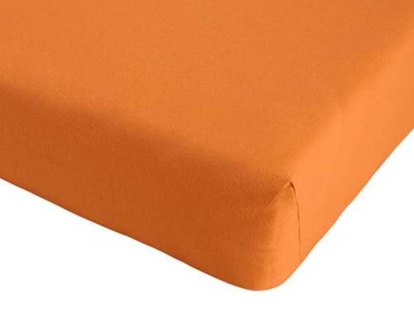 jersey spannbettlaken 180 x 200 cm orange von d nisches bettenlager ansehen. Black Bedroom Furniture Sets. Home Design Ideas