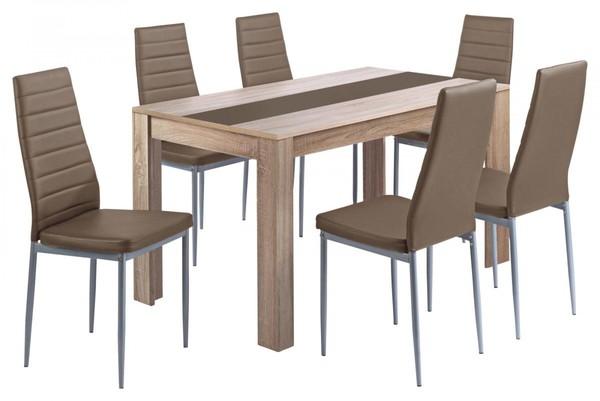 7 teilige esstischgruppe pegasus von poco einrichtungsmarkt ansehen. Black Bedroom Furniture Sets. Home Design Ideas