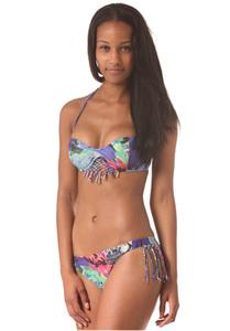 Insight Blue Wings Bandeau - Bikini Oberteil für Damen - Mehrfarbig