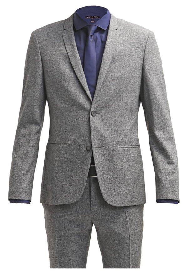 calvin klein tavis anzug medium grey von ansehen. Black Bedroom Furniture Sets. Home Design Ideas