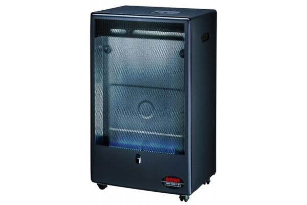 rowi gasheizofen blue flame 4200 w schwarz mit thermostat. Black Bedroom Furniture Sets. Home Design Ideas