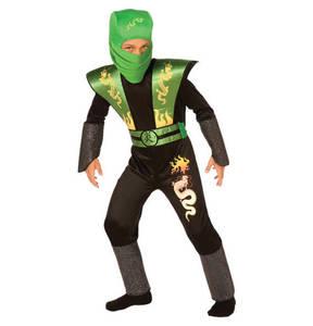 Crazy Days   Karnevalskostüm Kinder Ninja-Kämpfer grün