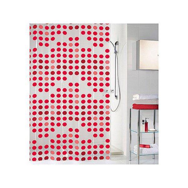 kleine wolke duschvorhang spot rot 180 x 200 cm von obi ansehen. Black Bedroom Furniture Sets. Home Design Ideas