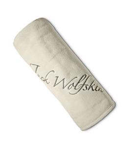 Jack Wolfskin Fleecedecke Logo Blanket one size weiss